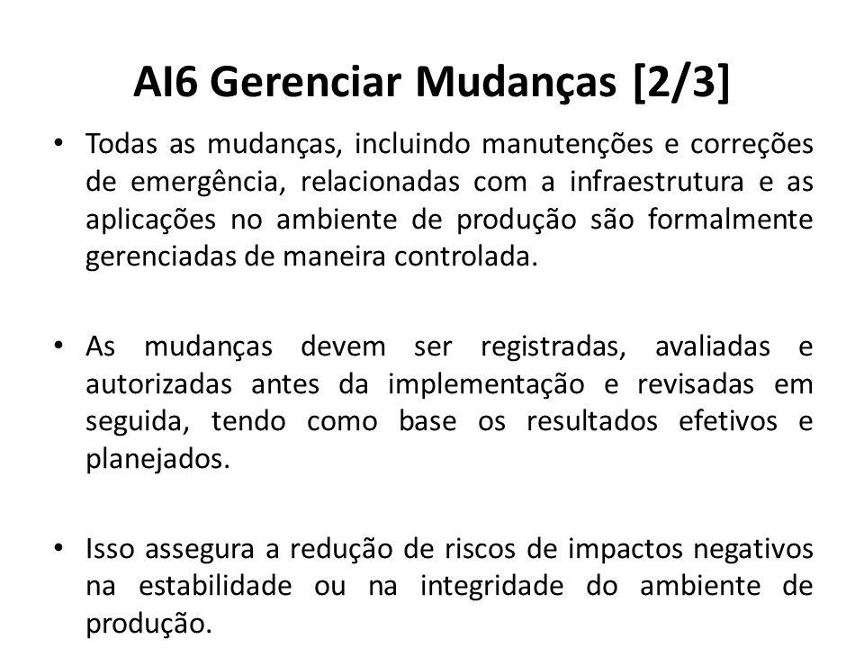 AI6 Gerenciar Mudanças [2/3]